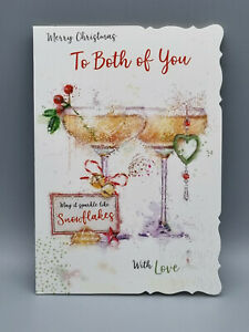 To Both Of You Christmas Card, With Love Xmas Card, Merry Christmas Both Of You