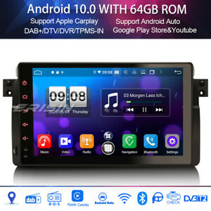 8-Core Android 10.0 Car Stereo GPS DSP Head Unit BMW 3 Series E46 Rover 75 MG ZT