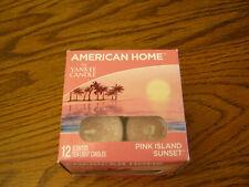 1 Box Yankee Candle American Home PINK ISLAND SUNSET  Box of 12 Tea Lights
