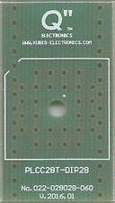 """Adaptateur PCB PLCC28T à DIP28 0.6"""". [FR]"""