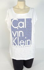 Calvin Klein White Sleeveless Long Tee T-Shirt Top Women's Large L NWT