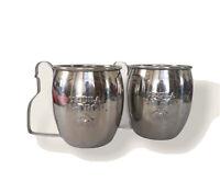 Patron Tequila Stainless Steel Mugs, Pair, 16 oz., Unused, Moscow Mule Mugs