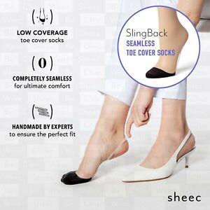 Sheec Slingback Toe Socks for Slingback Shoes. Seamless Toe Cover.