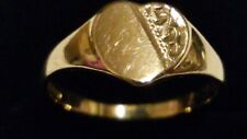Unisex 9ct 375 Yellow Gold HEART Shape Face Signet Ring Size M. In Gift Box*****
