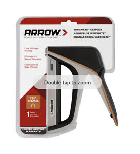 Arrow WireMate Staple Gun T25X Manual Wire Stapler 3/8 to 9/16 L in. Ships Free