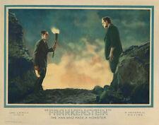 Frankenstein (1931) Man Who Made A Monster Karloff 12x18 Movie Lobby Card Poster