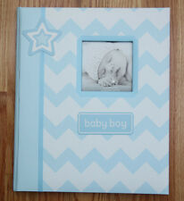 Pearhead L'il Peach Baby Boy Memory Book ~Blue & White Chevron ~ baby boy ~