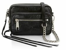Rebecca Minkoff Womens Leather Camera Shoulder Crossbody Bag_Black