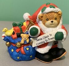 Lucy & Me Bear Santa Claus Is Coming To Town Enesco Figurine - 1992