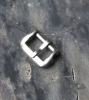 Stainless steel 1940s/50s vintage watch ladies strap buckle 9mm-10mm opening NOS