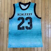 Nike Jordan Jumpman Mesh Jersey Tank Top 'MCMLXXXV' Ice Aqua Blue Mens Size XL