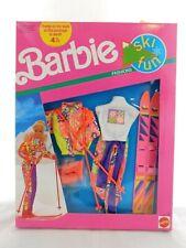 Barbie Ski Fun Fashions 1991 7576 Nrfb Mattel Vintage