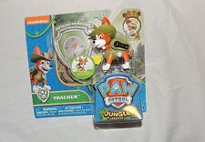 NEW Nickelodeon Paw Patrol Tracker Action Pack Pup & Badge Jungle Rescue