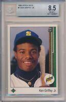 1989 Upper Deck Ken Griffey Jr. Rookie #1 BGS 8.5 Mariners #8607