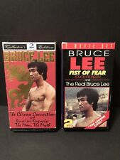 Lot of 2 Bruce Lee VHS 2 Tape Box Sets-The Chinese Connection, fist of Fear+more