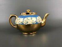 vintage Gibsons & Sons, ironstone teapot Staffordshire England, gold c.1950s