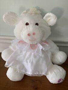 Fisher Price Puffalump White Cow Stuffed Plush Lace Heart Dress