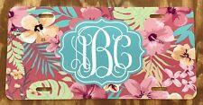 Monogram License Plate Flower Car Tag New Pink Flower Monogram Car Tag
