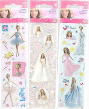 Barbie Stickers Lot of 3 Ballet, Wedding Formal Children Girls Sandylion