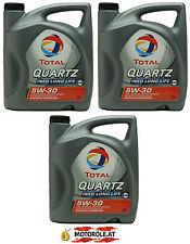 3x 5l Liter TOTAL Quartz Ineo Long Life3 5W-30 VW 504 00 / 507 00 Motoröl 15l