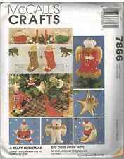 Uncut McCalls Vintage Sewing Pattern Christmas Bears Ornaments 7866 FF