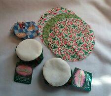 Charles Craft Cross Stitch Fabric Jar Lid Covers