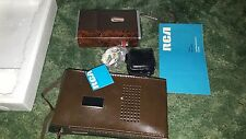 Vintage RCA IC-MINI YZB387T Cassette Recorder & Player Char Brown