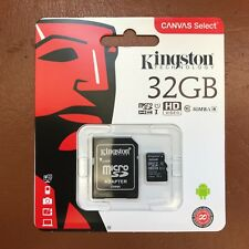 Kingston Micro Sd 32GB SDHC Memory Card Cellulare Classe 10 con Adattatore Sd