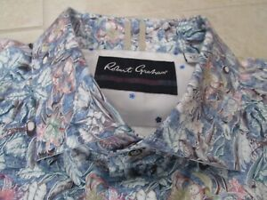 NEW Robert Graham KAIDEN Tiger Lily Floral leaves LS Sports Shirt MENS 3XL $168