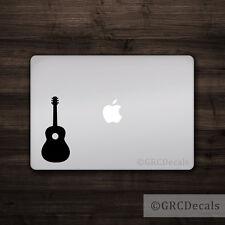 Guitar - Vinyl Decal Mac Apple Logo Laptop Sticker Macbook Decal Acoustic