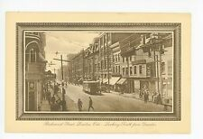 Richmond Street—London ONTARIO Rare Antique PC Busy Street—Trolley Tucks 1910s