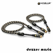 ViaBlue 2x 0,5m NF-S1 Silver Quattro XLR-Kabel / Mono 0,50m / High End Bestnote