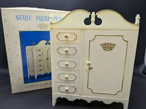 Vintage 1960s SERIE PRINCIPESSA Barbie Size Armoire Made in Italy #8001 w/ Box