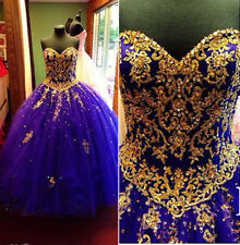 Purple Quinceanera Dresses Prom Dress Sweet 16 Dress with Gold Lace Sequins