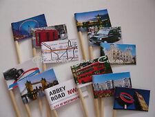 12 CUPCAKE TOPPER / FLAGS - LONDON