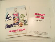 Lot of ONE LIMITED EDITION Absolut Miami Vodka recipe booklet.
