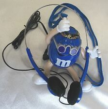 Collectible M & M Candy BLUE Groovy Summer AM FM  Radio 2003 WORKS ORIGINAL
