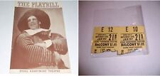1939 PLAYBILL & TICKETS KNICKERBOCKER HOLIDAY W HUSTON