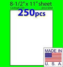 L101, 250 Full Sheet Labels,8-1/2x11,Laser InkJet Label