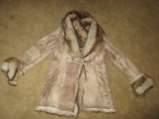 GORGEOUS WOMENS  BEIGE BROWN ANDREW MARC GENUINE SHEARLING JACKET S LQQK