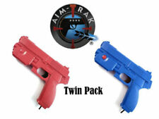 AimTrak Light Gun TwinPack 1x RED & BLUE Guns By Ultimarc works on MAME/PS2/PS3