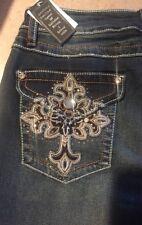 EARL JEANS CAPRI  Embellished Bling Pockets Size 10 NWT!! BAM 💥!!