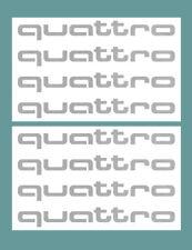 Quattro (Audi) Aufkleber Set - 8 Stück silber Allrad Sticker Symbol Auto Felgen