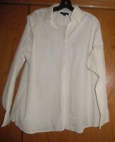 Lands' End Women's Ivory Button Up Dress Shirt Blouse Sz  20W