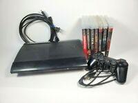 Sony PS3 Super Slim CECH-4201C Console Bundle 7 Games HDMI OEM Controller 500GB