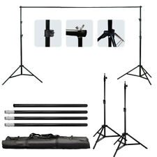 Background Support Stand Photo Backdrop Crossbar Kit Lighting Studio Tripod Set