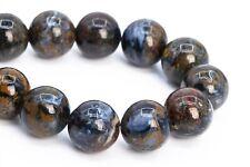 "9MM Genuine Natural Blue Pietersite Beads Grade AAA Round Loose Beads 7.5"""