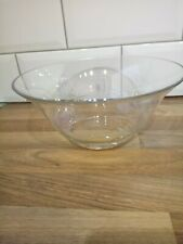 ART DECO LARGE ETCHED OPALESCENT GLASS  8 inch BOWL .