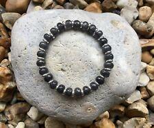 CHARCOAL JADE Semi Precious Gemstone Bracelet ~ by Lola & Lily Rose 🌹