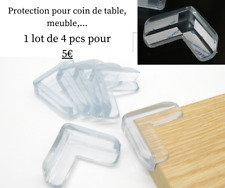 Protection Coin de Table bébé Protecteurs D'angles adhésif - Lot 4pcs -